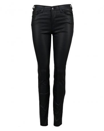 Coated High Rise Super Skinny Jeans