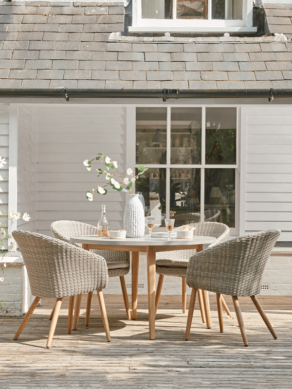 NEW Indoor Outdoor Concrete Topped Dining Table - Round