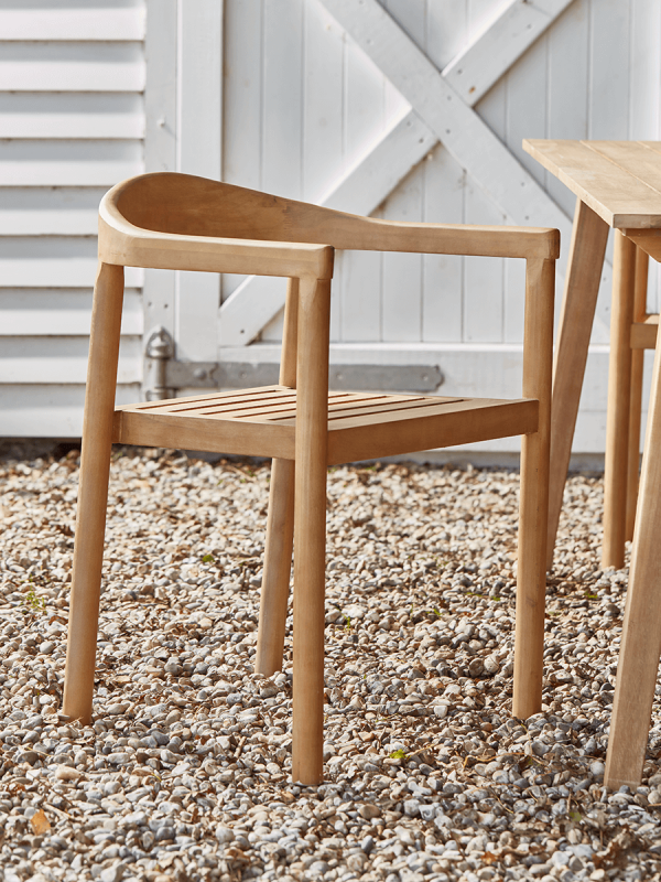 NEW Two Indoor Outdoor Acacia Dining Chairs