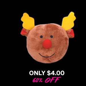 Grriggles Snowball Gang Dog Toy - Reindeer