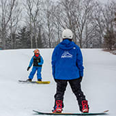Snowboard lesson at Hunter Mountain