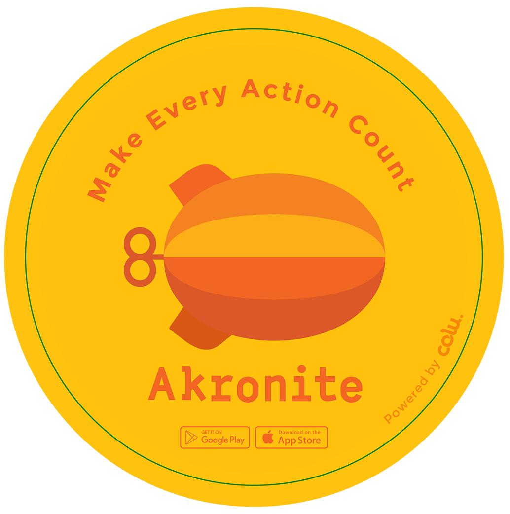 Akronite Window Sticker