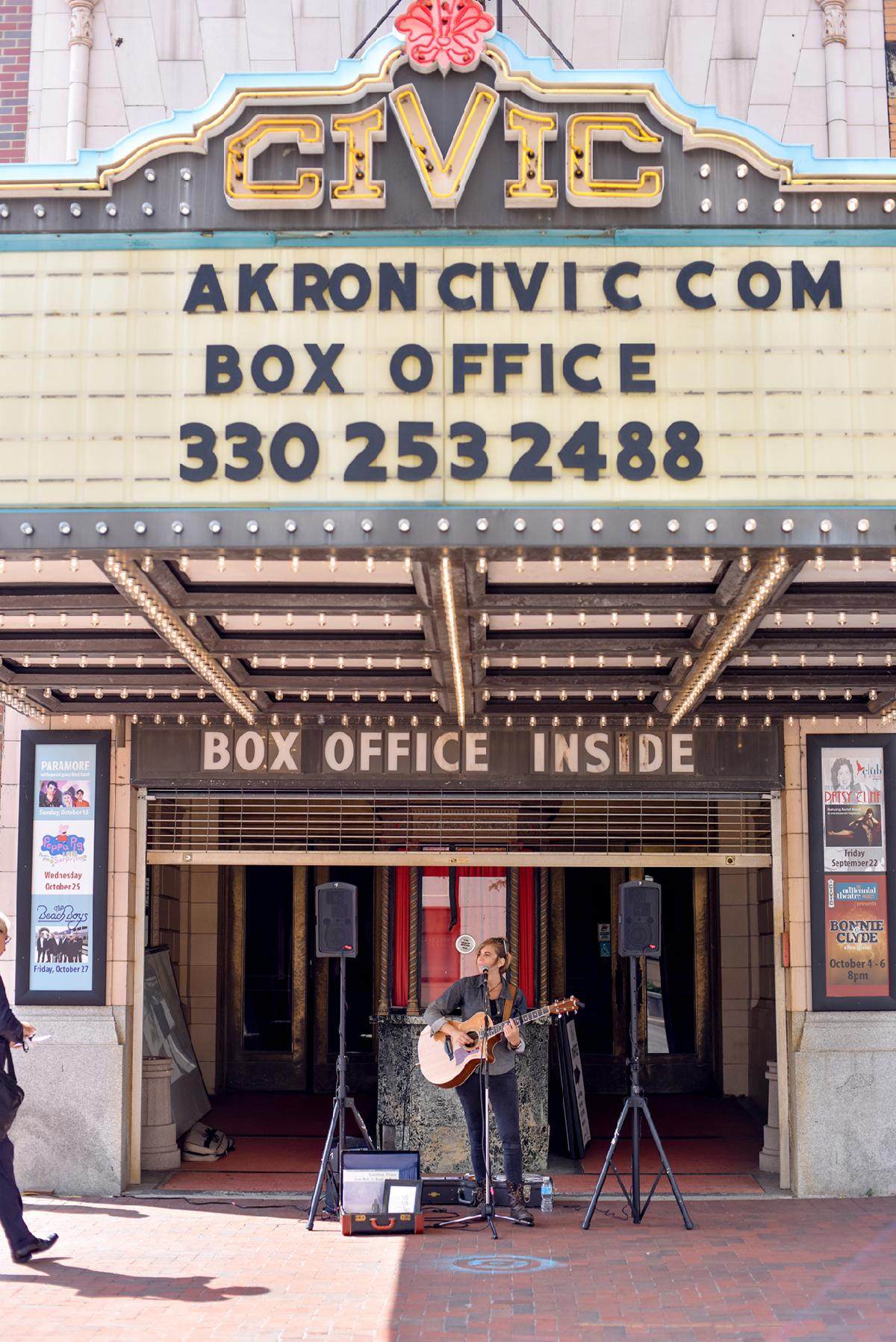 Akron Civic Theatre Marquee