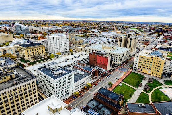 Aerial View of Downtown_ Akron by Shane Wynn