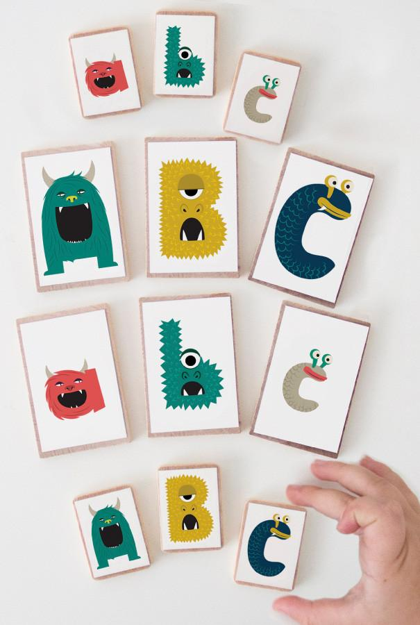 Monster Alphabet Print and Play