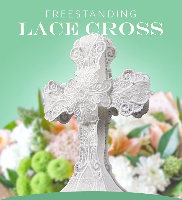 OESD Freestanding Lace Cross - A Eastertime Classic
