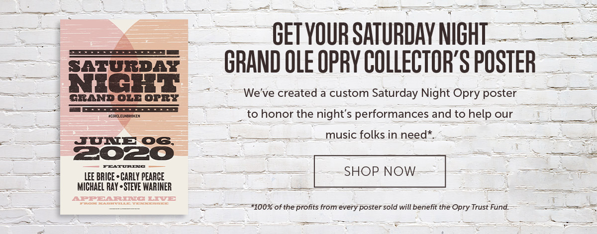 OPRY LINEUP POSTER JUNE 6TH 2020