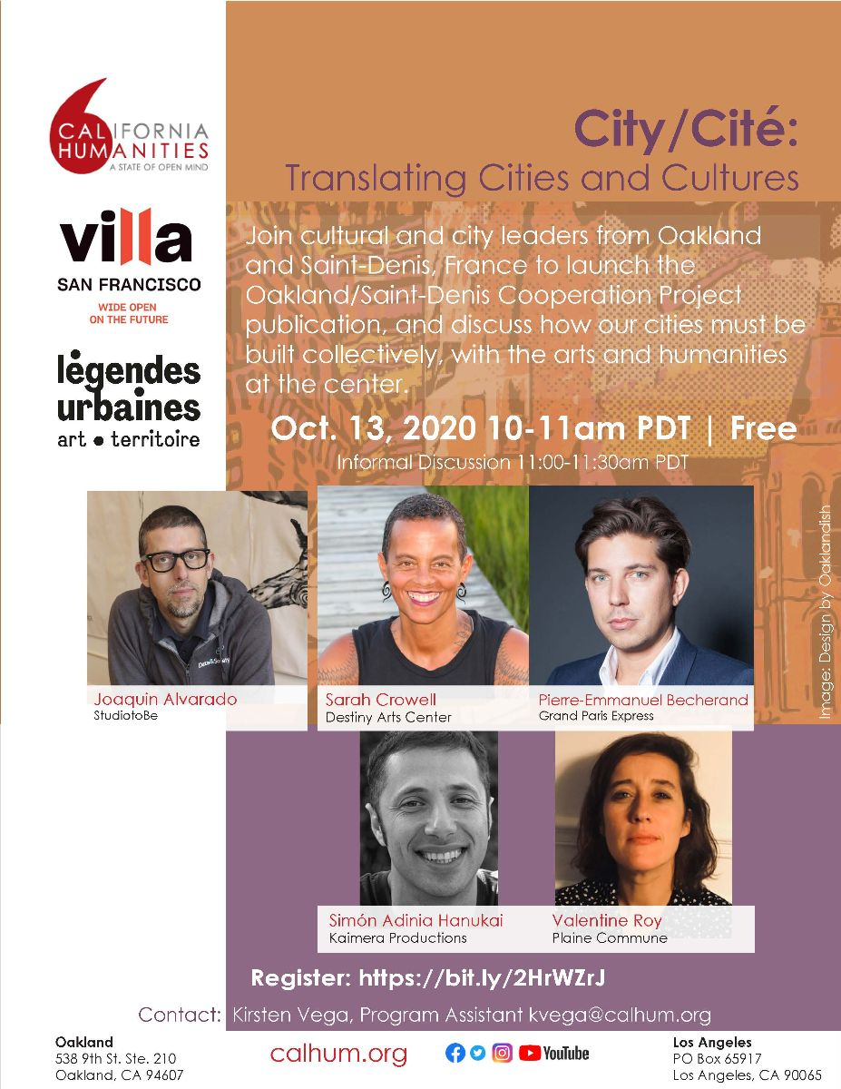 City/ Cit?: Translating Cities and Cultures event flyer