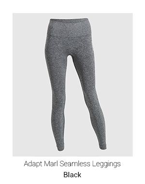 Adapt Marl Seamless Leggings, Black.