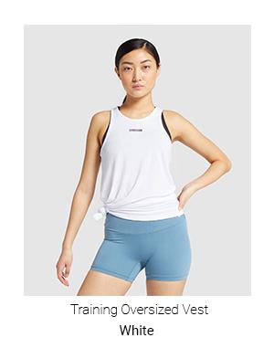 Training Oversized Vest, White.