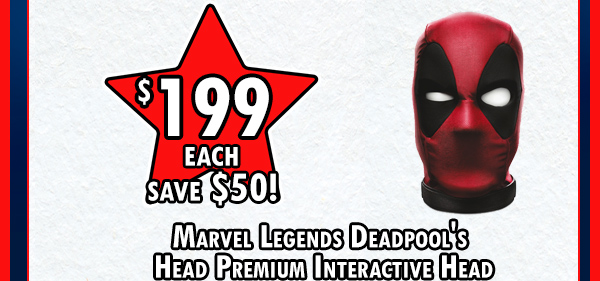 Deadpool premium interactive head!