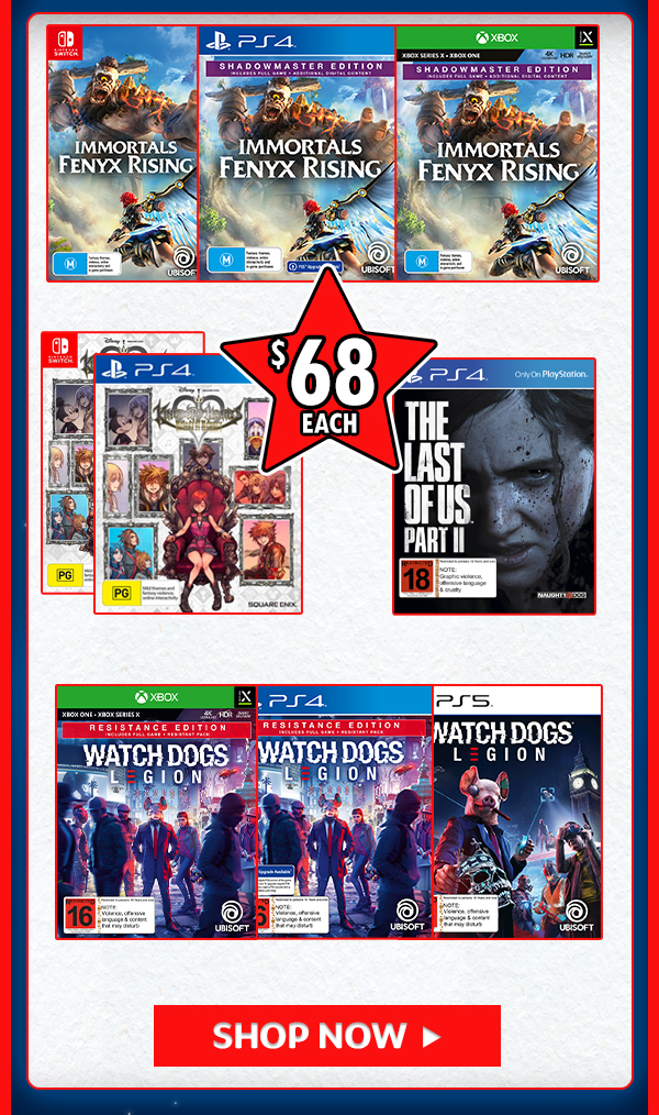 Games for $68!!