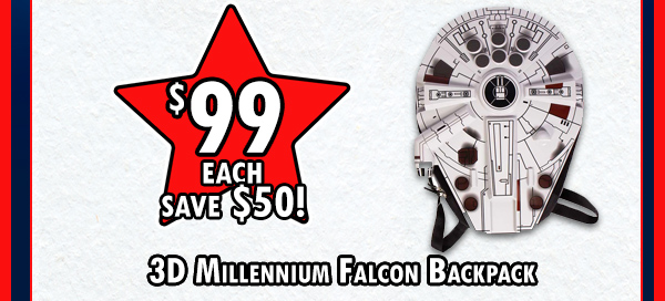 Millenium Falcon backpack!