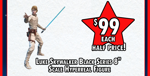 Luke Skywalker Black Series Scale Hyperreal Figure!