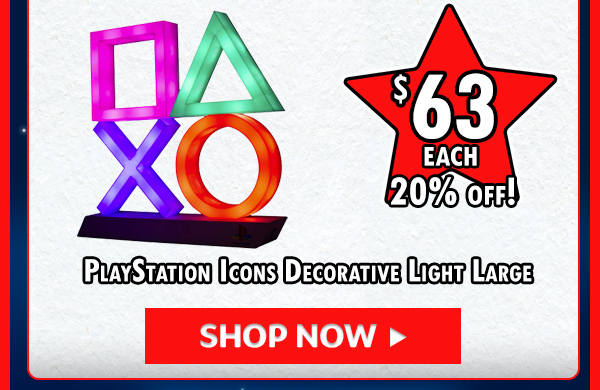 Sony - PlayStation Icons Decorative Light Large!
