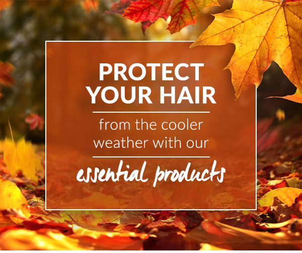 Protect your hair from the cooler weather with our essential products
