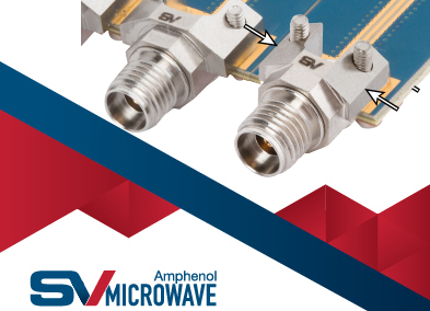 SV Microwave's high-speed RF/coaxial reduced flange edge launch connectors