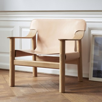 A tan Bernard Chair from Hay