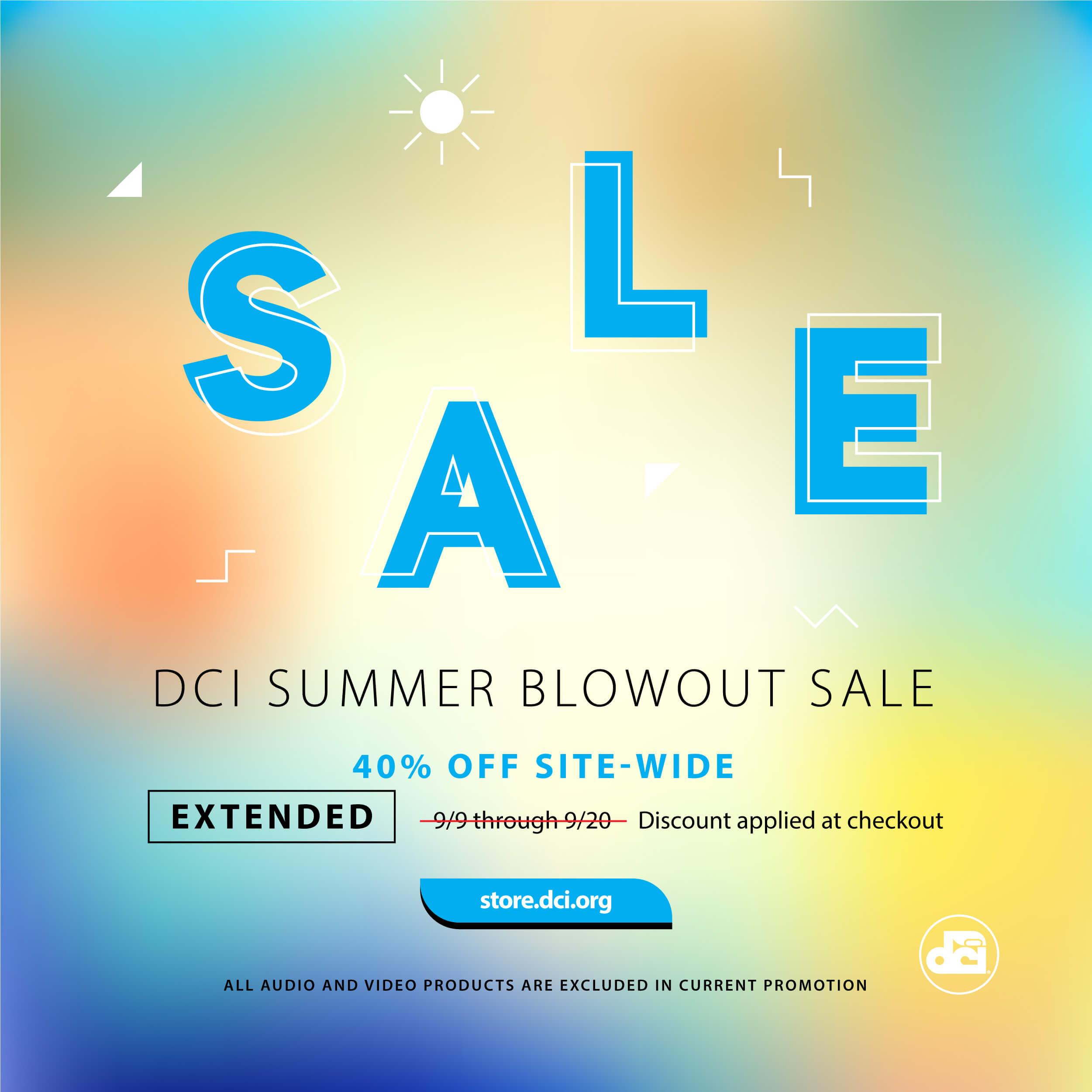 DCI Store promo graphic