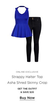 Strappy Halter & Asha Skinny Crop
