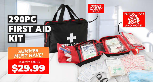 290 Piece First Aid Kit