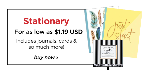 Fantastic stationary items to get you ready for the holiday season and new year!