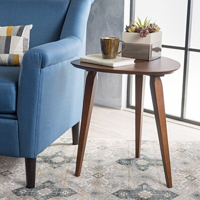 Finnian Modernistic Designed Wood Finish End Table