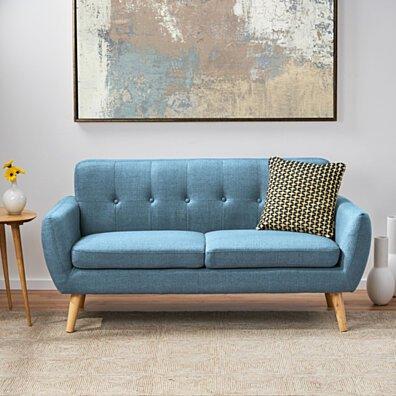 Joseline Mid Century Modern Petite Fabric Sofa