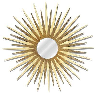 Midcentury Modern Decor ''MCM Starburst Mirror-Maple Walnut'' - Wooden Sunburst