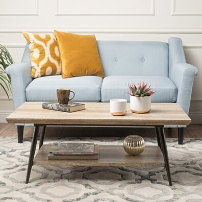 Ditmas Quality Crafted Wood Finish Coffee Table
