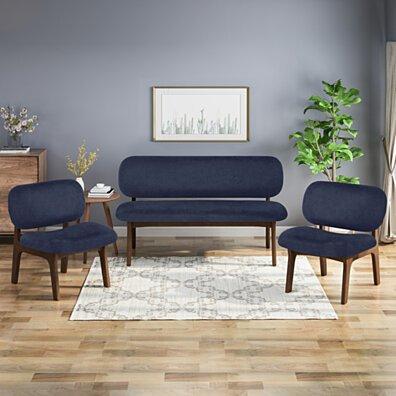 Jaxx 3 Piece Club Chair and Loveseat Set