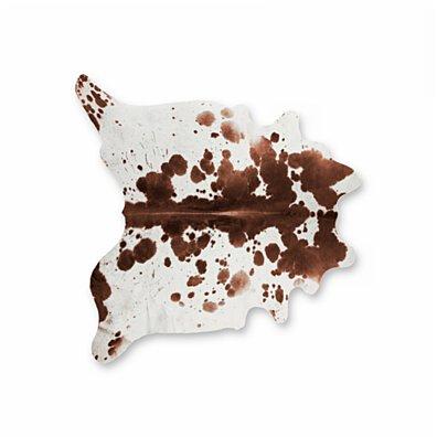 KOBE COWHIDE RUG Aprox 6''X7'' SALT& PEPPER BROWN/WHITE