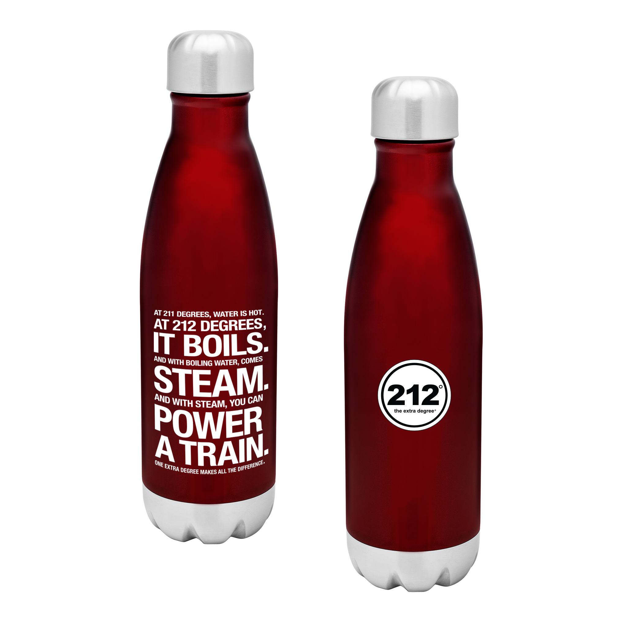 212� the Extra Degree Stainless Steel Bottle Red