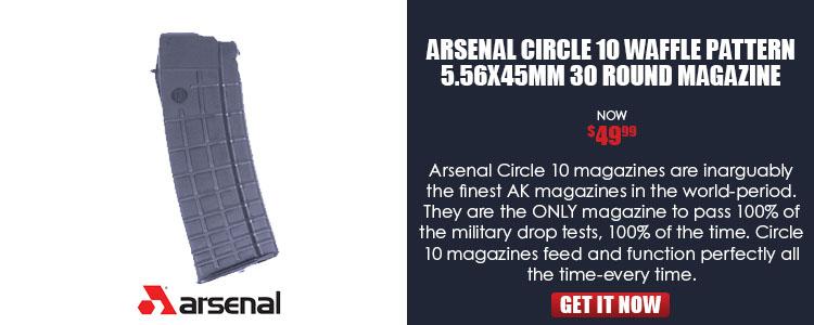 Arsenal Circle 10 Waffle Pattern 5.56x45mm 30 Round Magazine