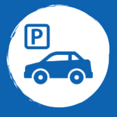 Graphic of a car parking