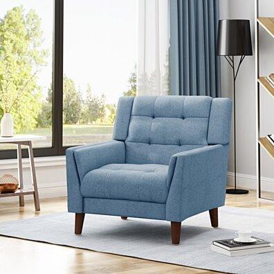 Alisa Mid Century Modern Fabric Arm Chair