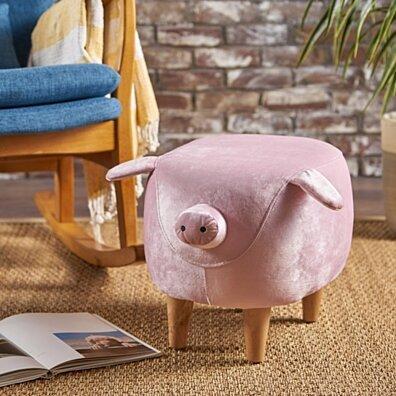 Benji New Velvet Pig Ottoman