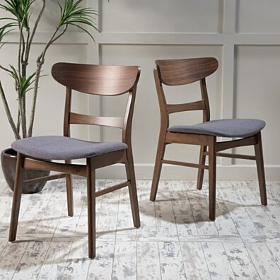Helen Mid-Century Modern Dining Chairs (Set of 2)