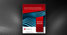 "the cover picture of white paper titled ""How to Write RFP on Remediation for PDFs"""