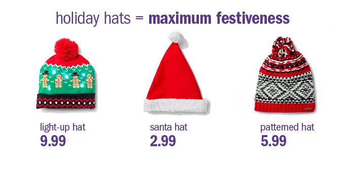 holiday hats = maximum festiveness
