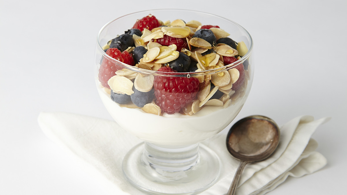 Nut and berry parfait
