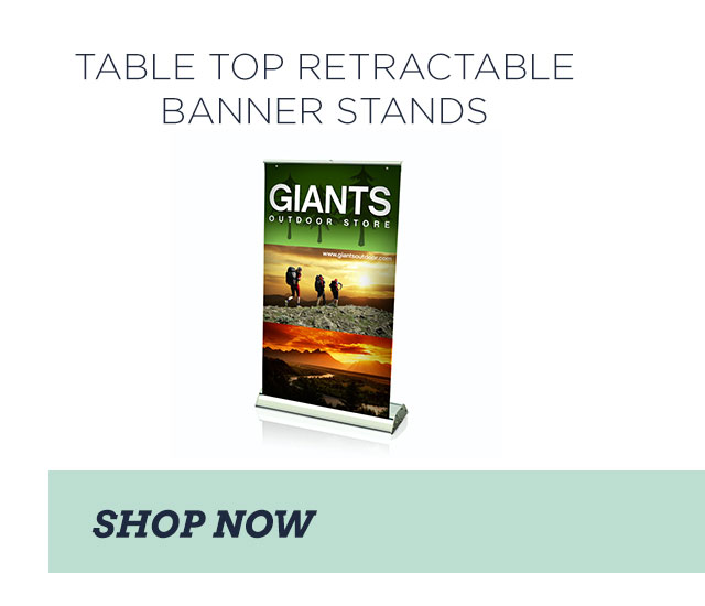 TABLE TOP RETRACTABLE BANNER STANDS - SHOP NOW