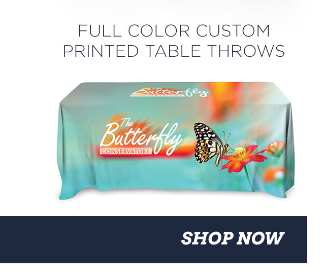 FULL COLOR CUSTOM PRINTED TABLE THROWS - SHOP NOW