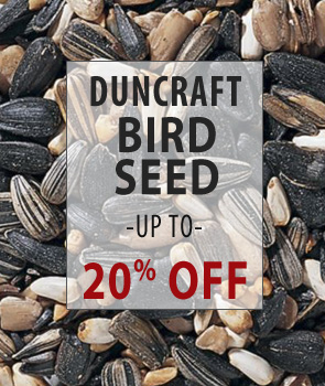 Up to 20% Off Duncraft Brand Bird Seed!