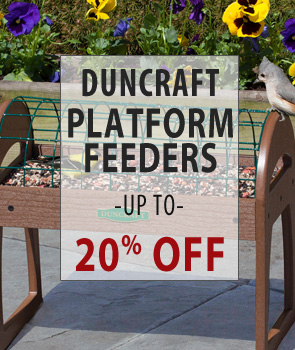 Up to 20% Off Duncraft Brand Platform Feeders!