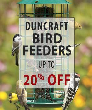 Up to 20% Off Duncraft Brand Bird Feeders!