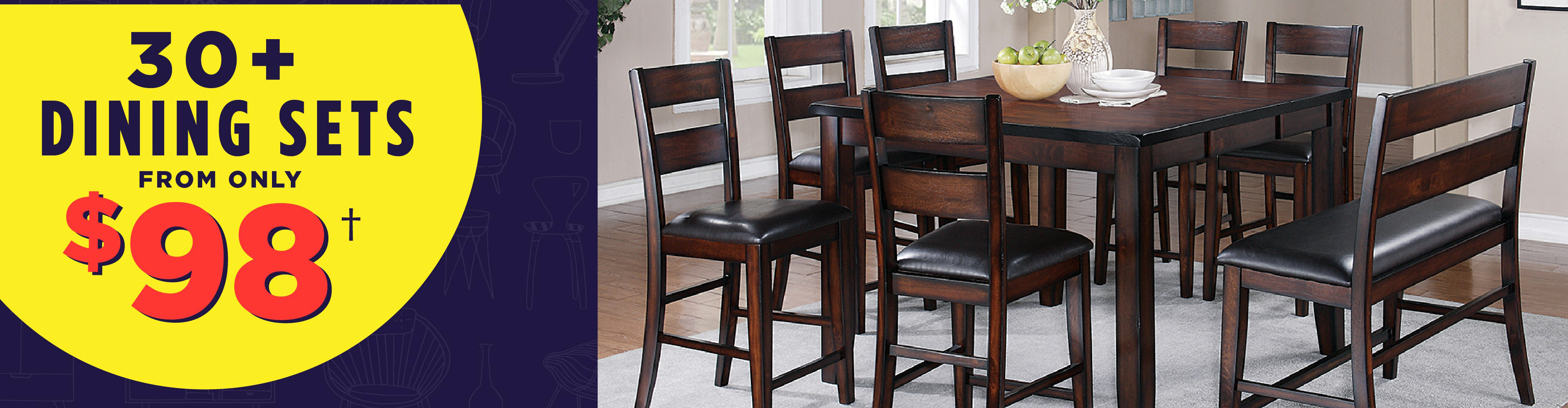 30+ Dining Sets from only $98!