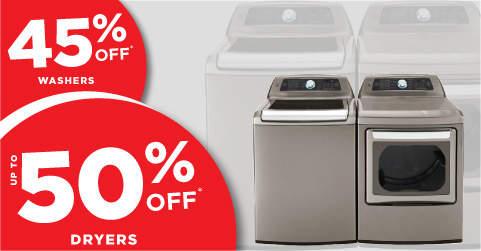 Big Savings on Washers & Dryers!