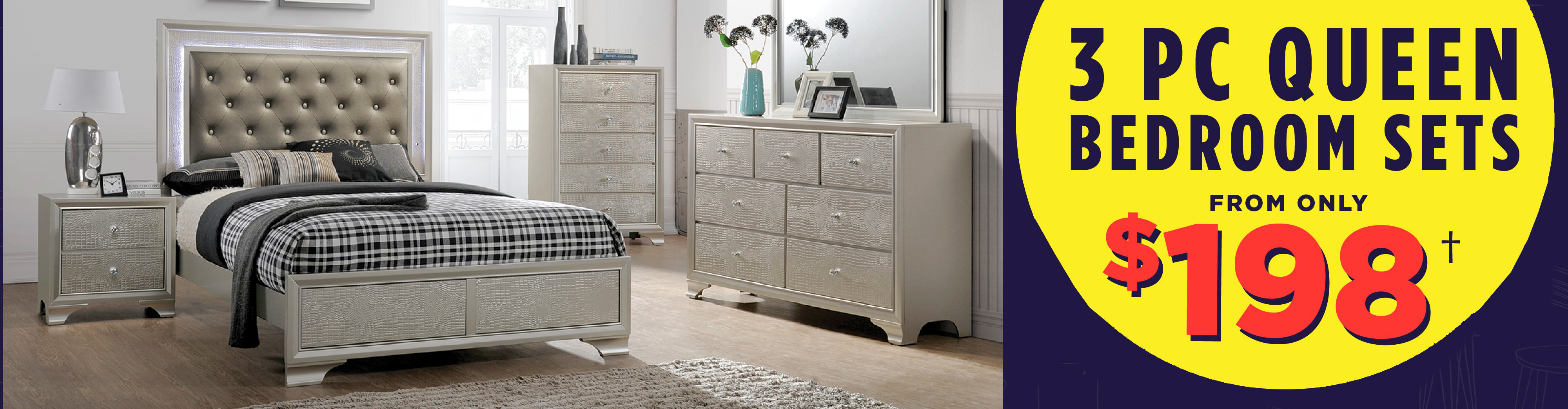 3-pc. Queen Bedroom Sets from only $198!