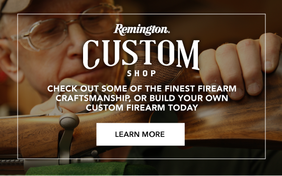 Check out some of the finest firearm craftsmanship from our Remington Custom Shop
